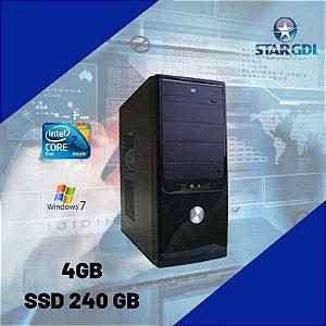 Novo: Computador Intel Core 2 Duo 4gb Ram SSd 240gb c/ Windows 7