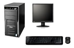 Cpu Completa Dual Core 4gb Hd500 + Monitor 17 + Caixinha
