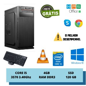 Cpu Intel Core i5 4gb DDr3 Ssd 120gb Windows 10 + Brinde