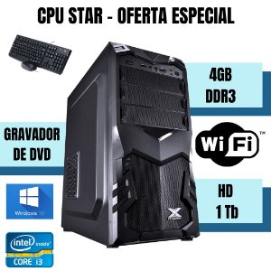 Desktop i3 4gb Hd 1tb Windows 10 Teclado e Mouse Usb Nova !!