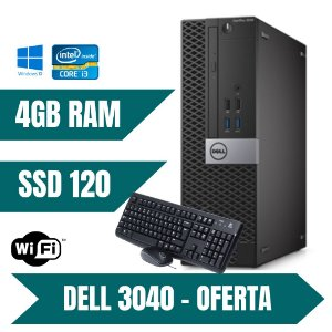 Cpu Dell Core i3 4gb Ssd 120gb Win10 Com Programas + Brindes