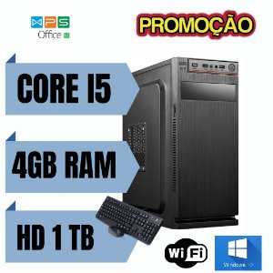 PC TORRE - Intel Core i5 4gb Ram Hd 1tb Windows 10 Pró Nova