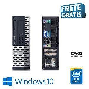 Cpu Semi Novo Dell i7 4gb SSd 120gb Windows 10 Pró Oem