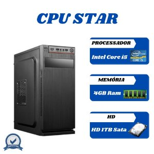 Cpu Montada Core i5 4gb 1tb Windows 10