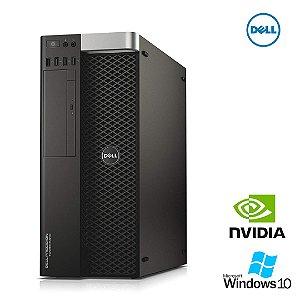 Pc Dell WorkStation Precision Tower 5810 Xeon E5 1650 v3 64gb Ram DDR4 Hd 1tb - Placa de Vídeo Quadro K2200 4gb - Windows 10 Pró - Gravador de DVD