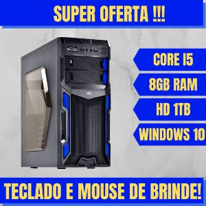 Cpu Desktop Intel Core i5 8GB HD 1TB Windows 10