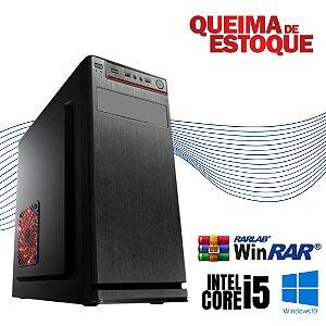 Cpu Montada Core i5 8gb Hd 500gb Windows 10 Pró Nova