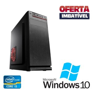Pc Desktop Core i3 4gb Ram 240gb de SSd Windows 10 Pró Nova