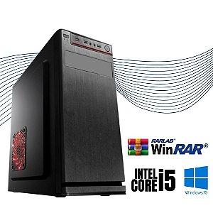 Pc Star Intel Core i5 4gb Ram DDR3 SSD 120gb Windows 10 Pró - Gravador de DVd - Programas Basicos - Teclado e Mouse de Brinde