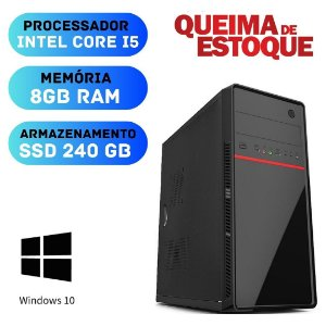 Cpu - Desktop - Core i5 8gb SSd 240 Windows 10 - Programas