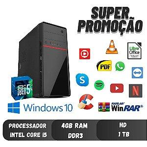 Cpu Torre Core i5 4gb Ram Hd 1tb Windows 10 - Promoção