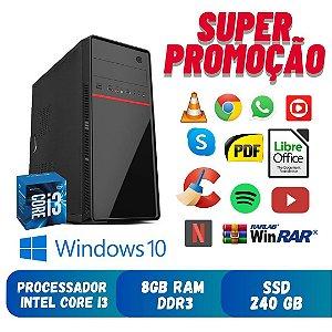 Pc Star Core i3 8gb Ram DDR3 SSd 240gb Windows 10 - Promoção