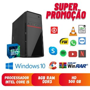 Cpu i5 8gb Ram 500gb de Hd Windows 10 Dvd Programas