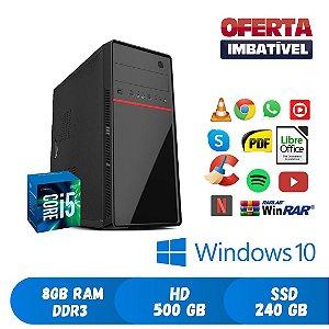 Pc Core i5 8gb Hd 500 + SSd 240 Windows 10 Pró Dvd PROGRAMAS