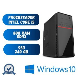 Cpu Core i5 - 8gb Ram SSd 240 - Windows 10 Pró