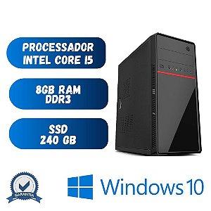 Computador Pc Desktop Cpu Core i5 - 8gb Ram SSd 240 - Windows 10 Pró Original - Programas Basicos