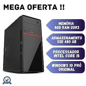 Computador i5 4gb Ram 480gb Windows 10 OEM + Programas