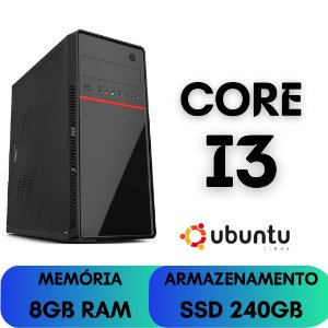 Cpu Core i3 8gb Ssd 240gb Ubuntu Linux