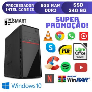 Computador Core i5 8gb Ram 240gb de SSd Windows 10 Original