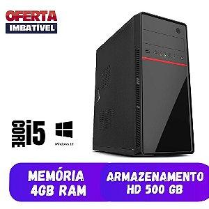 Cpu Desktop Nova Home i5 4gb Ram 500gb Win10 Frete Promoção