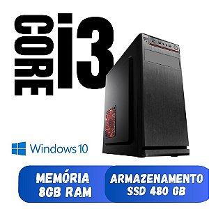 Cpu i3 Nova Pronta para Uso, 8gb SSd 480gb Win10 Frete