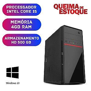Cpu Desktop Intel Core i5 4gb Ram 500gb Windows 10 Pró