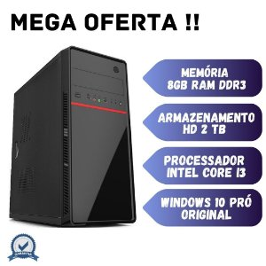 Cpu Montada, Core i3, 8gb Ram, Hd 2tb, Windows 10.
