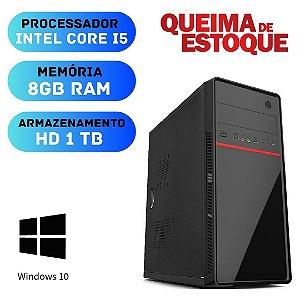 Cpu Desktop Core i5 8gb Hd 1tb Win10 + 2gb Nvidia - Promoção