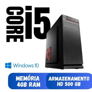 Computador Cpu Desktop i5 4gb RAM 500gb Windows 10 StarPc.