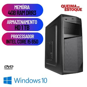 Pc Computador Desktop Cpu Star i5 4gb Ram Hd 1tb Windows 10