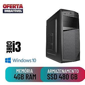 Computador Pc Desktop Cpu Core i3 4gb SSd 480 Win10 - Oferta