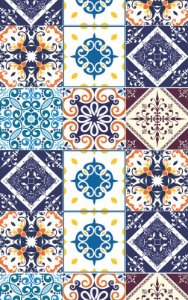 Papéis de Parede Azulejo - PR194