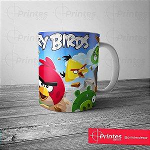 Caneca Branca - Angry Birds