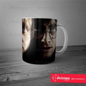 Caneca Branca - Harry Potter