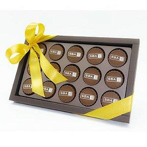 Caixa Luxo 15 Bombons Personalizados 01 Cor + Laço