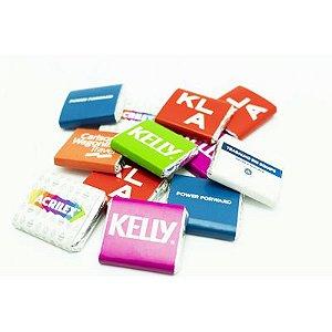 Tablete de Chocolate Liso + Invólucro Personalizado - 3,5 x 3,0 cm