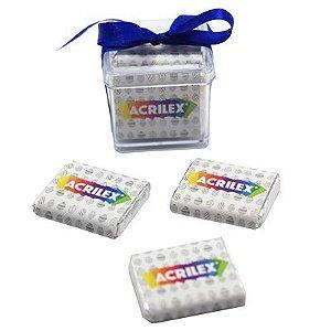 Caixa 5 Tabletes de Chocolate com Cinta Personalizada + Laço