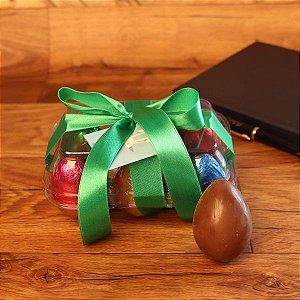 Caixa com 6 ovos de chocolate + Tag 04 cores