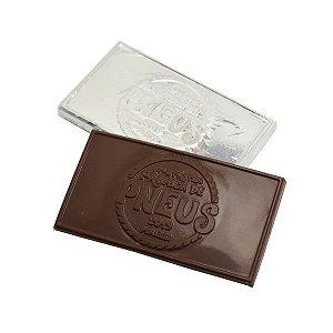 Tablete de Chocolate Personalizado Relevo - 12,0 x 6,0 x 0,5 cm