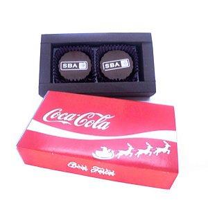 Caixa Luxo 2 Bombons Personalizados 01 Cor + Cinta Personalizada