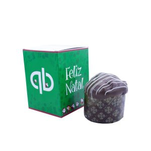 Mini Panetone ou Chocotone Caixa  + Cinta personalizada 04 cores