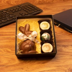 Caixa rígida personalizada 01 cor + 1 Coelho e 3 bombons