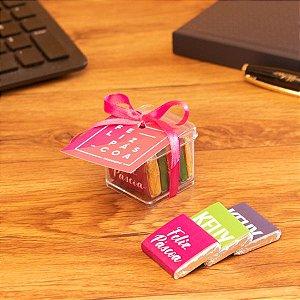 Caixa acrílico + 5 tabletes personalizados