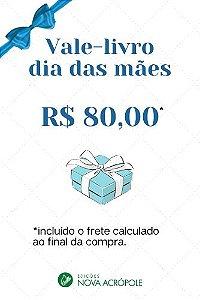 Vale-livro de R$ 80,00
