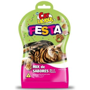 Petisco Total Cat Licious Festa Mix de Sabores 40g