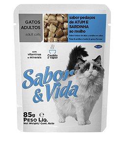 Sabor & Vida Pedaços de Atum & Sardinha ao Molho