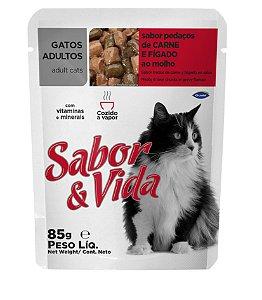 Sabor & Vida Pedaços de Carne e Fígado ao Molho