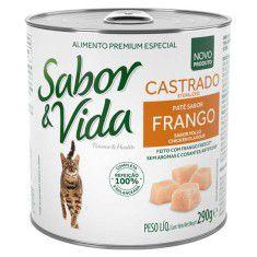 Kit Projeto Vida Animal 12 latas patê Sabor e Vida Carne e Fígado