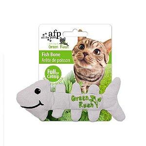 Espinha de peixe em Tecido com Catnip