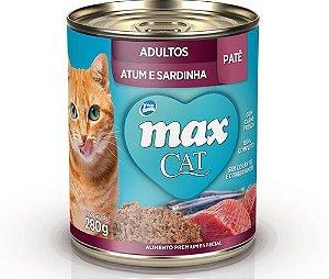 Max Cat Pate Gatos Adultos Atum e Sardinha